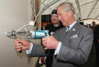 Even the Prince of Wales has tried his hand at rug tufting.