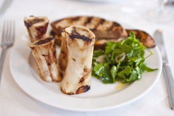 Pair bone marrow with steak instead of bread to increase the protein content of the dish.