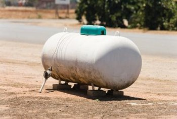 Building codes specify the minimum acceptable distance between a propane tank and other structures.