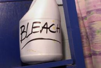 Use bleach to disinfect and blanch the toilet brush.