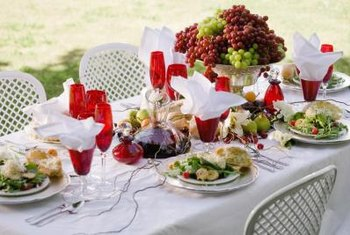 White chargers go with most any table setting and dishware.