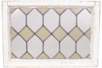 Look for antique window panes at flea markets.
