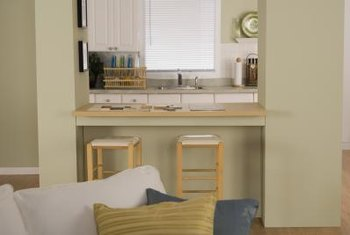 Cabinet sides and backs can create bare surfaces to decorate.