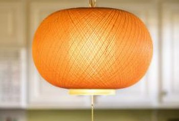 A simple hanging lamp is not complex.