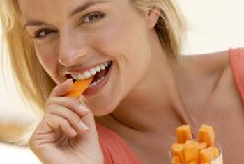 Carrots are a nutritious low-carbohydrate snack.