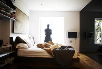 hanging your bedroom tv on the wall will free up floor space - Tv In Bedroom