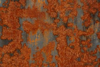Rust corrosion occurs when oxygen comes into contact with metal.