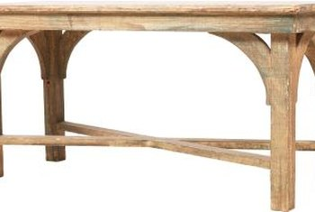 Becasue of the softness of the wood, pine tables are suited for distressing with tools.