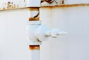 Rust is a sign that a water tank needs maintenance or repair.