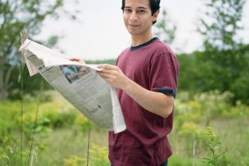 When you're finished reading, use the newspaper in your garden.