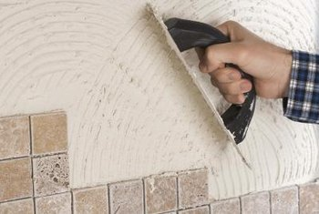 Wall tiles can be applied to many surfaces.