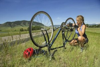 Goathead weeds take root along roadsides where they often cause damage to bicycle tires.