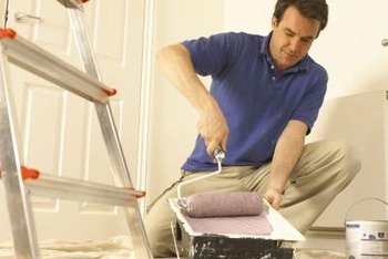 Refresh your walls, repairing cracks and holes before priming and painting.