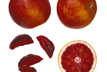 Blood oranges are deep red in color.