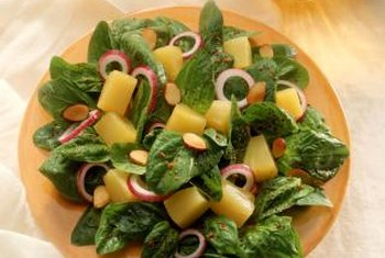 Homegrown spinach provides the freshest salads.