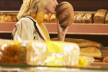 Bread owes its light crumb and chewy crust to wheat's gluten-forming proteins.