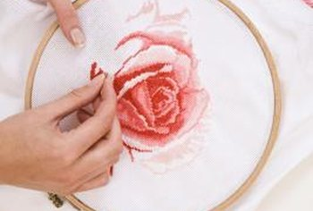 Cross-stitch embroidery creates a charming embellishment for clothing and home accessories.
