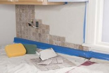 Grouting can be a messy job, even if you take proper precautions.