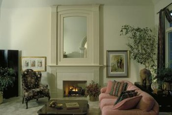A large mirror makes a room look larger.