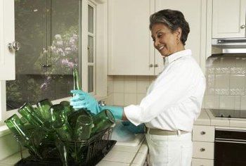 Even if you don't scrub your recycleables, make sure they are dry and free of food that can spoil.