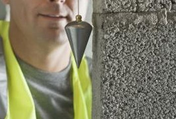 A laser or transit level can be used in place of a plumb bob.