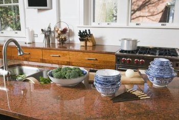 A high-gloss shine makes stone surfaces easier to clean.