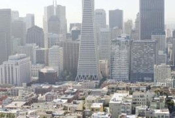 Elevated property values accompany the high FSI in urban centers such as San Francisco.