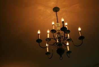 A chandelier can change the look of a room.