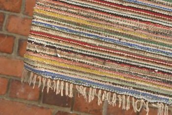 Use durable rag rugs as doormats inside or out.