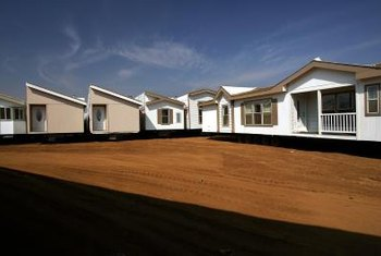Mobile homes are built using the latest construction technologies.