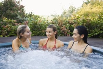 Outdoor hot tubs are good places to relax with friends.