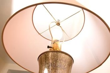 Clean your entire lampshade to remove a water spot.