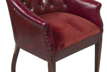 Restore A Leather Chair With Special Spray Paint.