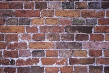 Bricks are available in many colors and can also be stained or painted.