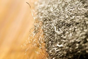 Steel wool is a faux finishing tool as well as an abrasive.