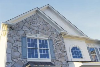 Stone facades may cover small sections of wall or an entire house.