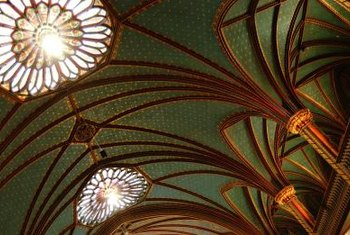 Not all cathedral ceilings are this grand, but all require proper lighting.