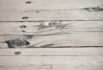 You can smooth out your deck's appearance by filling nail holes.