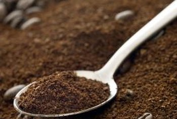 Ground coffee residue can remain in the basket of the percolator.