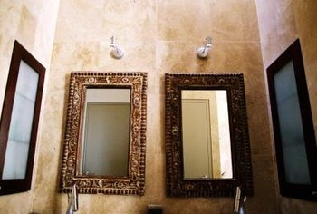 Both wall-mounted and freestanding mirrors gain presence with molding.