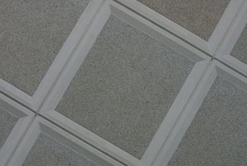 How To Change Ceiling Tiles On A Dropped Ceiling Home Guides SF Gate - 2x2 recessed ceiling tiles