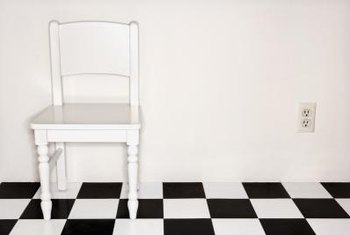 How To Install A Black White Checkered Vinyl Floor Home