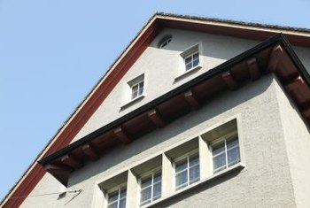 Stucco is a type of cement used instead of siding or brick.