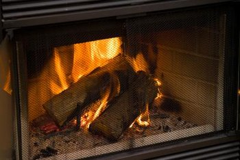 A chain mail curtain keeps hot coals inside your fireplace.