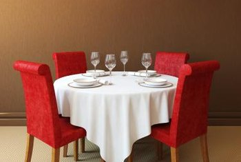 Add color to the room with the chairs -- red is a classic dining room hue.