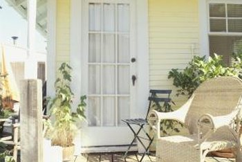 Clean your porch before you begin the refinishing process.