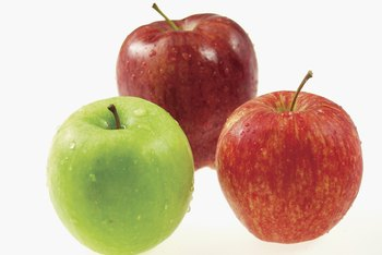 Apples are slow-burning carbs because they're high in fiber.
