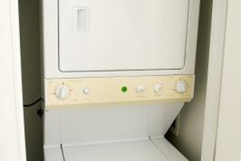 When space is an issue, a stackable washer/dryer can be installed.