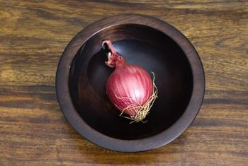 Colorful red onions are good either raw or cooked.