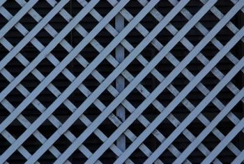 Choose diamond or square weave lattice to build a trellis fence for climbing vines.